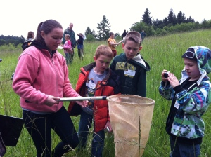 Second graders study insects at Miller Woods.