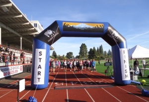 Runtoberfest starts and finishes at the McMinnville High School track.